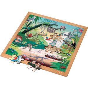 Pădurea tropicală - Colecția - Habitate - Puzzle educativ din lemn - Educo by Didactopia 1