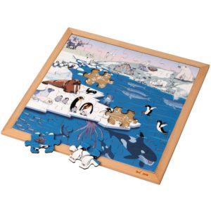Regiuni polare - Colecția - Habitate - Puzzle educativ din lemn - Educo by Didactopia 1