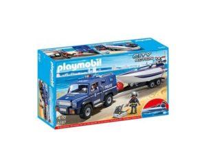 CAMION DE POLITIE CU BARCA-Playmobil-Police-PM5187