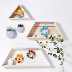 Coroniţe ornamentale - Set creativ copii - Bricolaj - Fălţuire, colorare, lipire - Haba Sachenmacher Didactopia 3