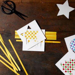 Felicitări împletite - Set creativ copii - Bricolaj - Împletire Fröbel Haba Sachenmacher prin Didaactopia