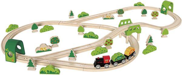 Trenuleţ lemn - Circuit tren prin pădure - Hape® by Didactopia 1
