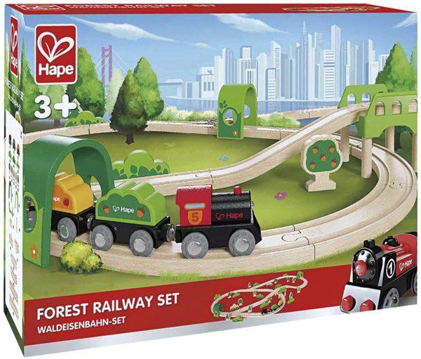 Trenuleţ lemn - Circuit tren prin pădure - Hape® by Didactopia 2
