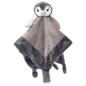 Pinguin - Păturică Bebe de îmbrăţişat - Baby Security Blanket - Schmusedecke - My Teddy Original in Romania prin Didactopia