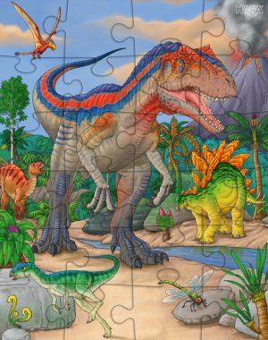Dinozauri – Set 3x Puzzle pentru copii - 3 x 24 piese - HABA by Didactopia 4