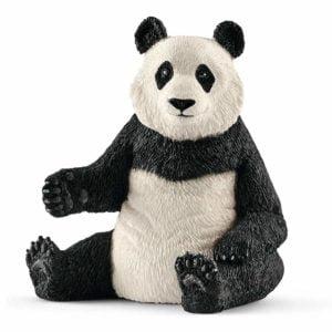 Ursoaică Panda mare şezând 14733 - Wild Life - Figurina originala Schleich - Didactopia