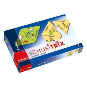 Schubitrix - Joc linvistic limba engleza - Animals and food - original Schubi Westermann - Didactopia