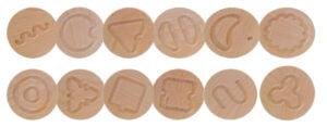 PanTASTINO - 12 perechi rotunde lemn