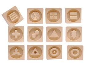PanTASTINO corpo® (unghiular) - Joc memorie tactil - 12 perechi - lemn masiv - prin Didactopia