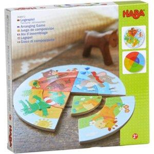 Anotimpuri si animale - Puzzle circular - Copii mici - Haba by Didactopia 4