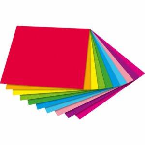 Hârtie origami în două culori - Set bricolaj hârtie - 200 buc - Haba pri Didactopia 1