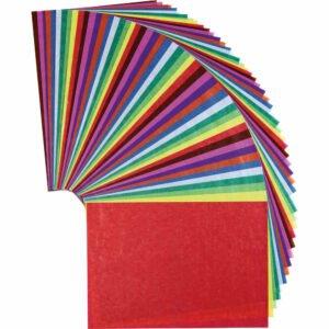 Hârtie transparentă colorată - Set bricolaj hârtie - 50 buc - Haba prin Didactopia 1