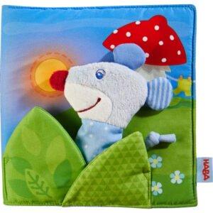 Noapte buna - Carte senzoriala textila bebe - Dezvoltare senzoriala - Original HABA in Romania prin Didactopia