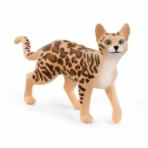 Pisica bengaleza 13918 - Farm World - Figurina originala Schleich - Didactopia