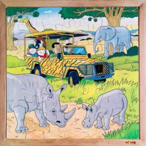 Safari - Puzzle educativ din lemn - Educo prin Didactopia 1