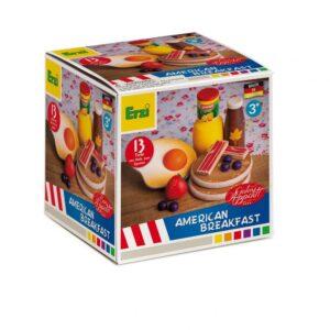 Set alimente lemn de jucărie pentru copii - Mic Dejun American - Erzi by Didactopia 1