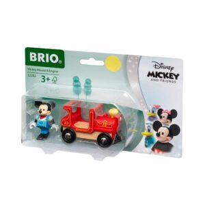 MICKEY CU LOCOMOTIVA-Trenulet Lemn original BRIO-BRIO32282
