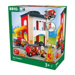 STATIE DE POMPIERI-Trenulet Lemn original BRIO-BRIO33833