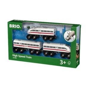 TREN DE MARE VITEZA-Trenulet Lemn original BRIO-BRIO33748